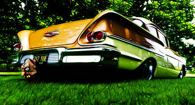 1958 Chevrolet Delray Poster by Phil 'motography' Clark