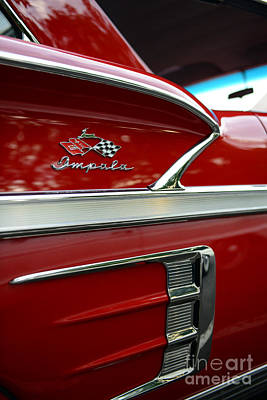 1958 Impala Red  Poster by Paul Ward
