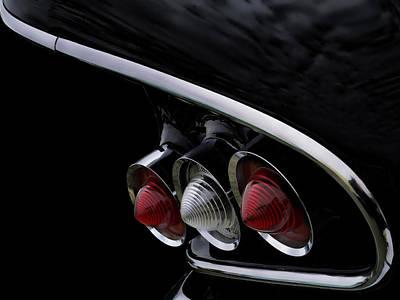 1958 Impala Tailfin Poster by Douglas Pittman