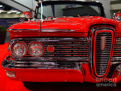 1959 Edsel Corsair Convertible . Red . 7d9233 Poster by Wingsdomain Art and Photography