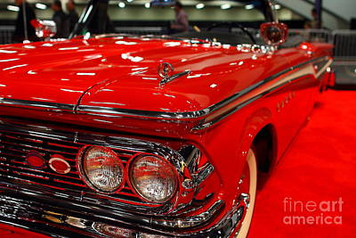 1959 Edsel Corsair Convertible . Red . 7d9241 Poster by Wingsdomain Art and Photography