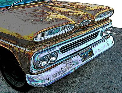 1960 Chevrolet Apache 10 Pickup Truck Poster by Samuel Sheats