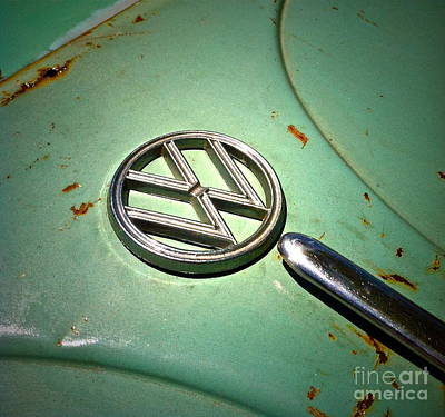 1961 Green Vw Poster by Gwyn Newcombe