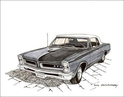 1965 Pontiac Gto Convertible Poster by Jack Pumphrey