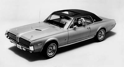 1968 Mercury Cougar Xr7-g, Sports Car Poster by Everett