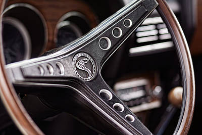 1969 Ford Mustang Shelby Cobra Gt500 Steering Wheel Poster by Gordon Dean II