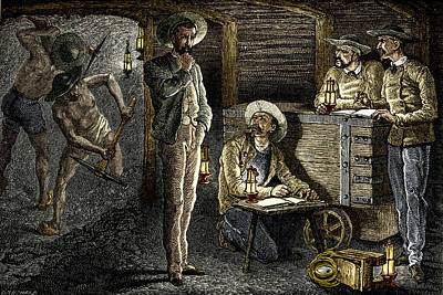 19th-century Coal Mining Poster by Sheila Terry