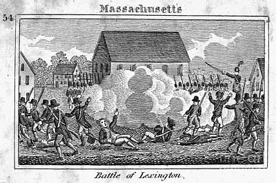 Battle Of Lexington, 1775 Poster by Granger