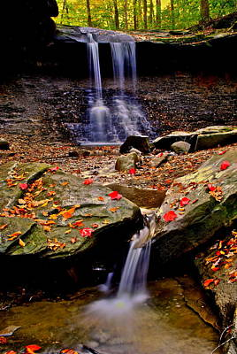 Blue Hen Falls Poster by Frozen in Time Fine Art Photography