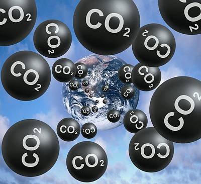 Carbon Dioxide And Climate Change Poster by Victor De Schwanberg