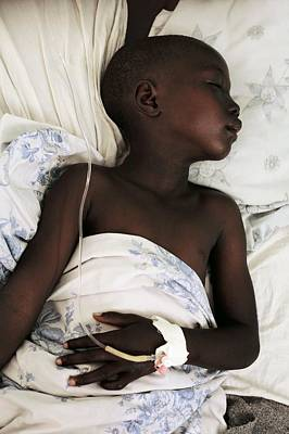 Child Patient, Uganda Poster by Mauro Fermariello
