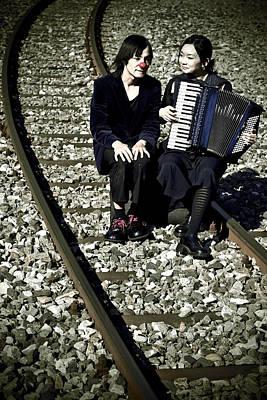 Clown Couple Poster by Joana Kruse