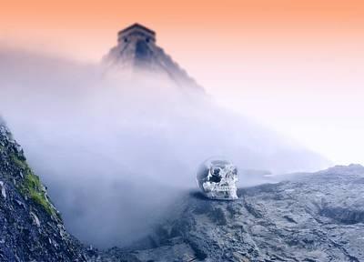 Crystal Skull And Maya Pyramid, Artwork Poster by Victor Habbick Visions