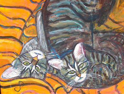 Dos Gatos Poster by Carolyn Donnell