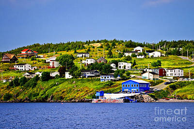 Fishing Village In Newfoundland Poster by Elena Elisseeva