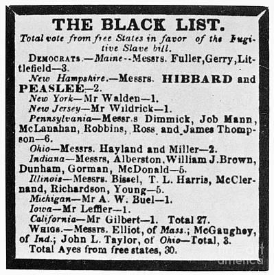 Fugitive Slave Act, 1850 Poster by Granger