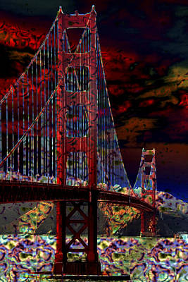 Golden Gate Bridge Poster by Aidan Moran