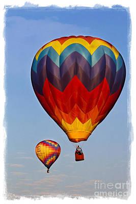 Hot Air Balloons Poster by Elena Nosyreva