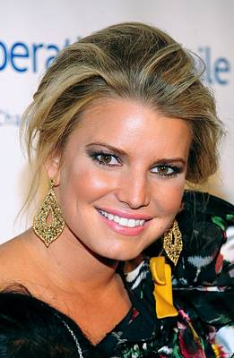 Jessica Simpson At Arrivals Poster by Everett