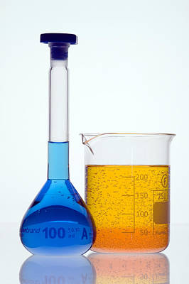 Laboratory Glassware Poster by Paul Rapson