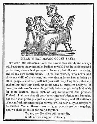 Mother Goose, 1833 Poster by Granger