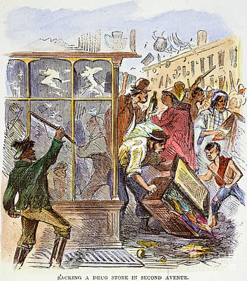 New York: Draft Riots 1863 Poster by Granger