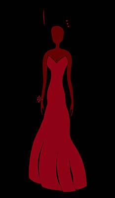 Red Dress Poster by Frank Tschakert