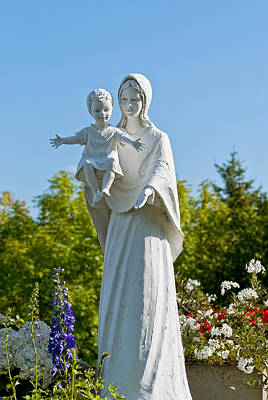 Saint Mary With Jesus Poster by Design Windmill
