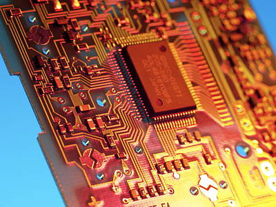 Silicon Chip Poster by Tek Image