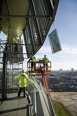 Solar Panels On City Hall, London, Uk Poster by Paul Rapson