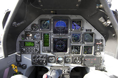 The Interior Cockpit Of An Iraqi Air Poster by Terry Moore