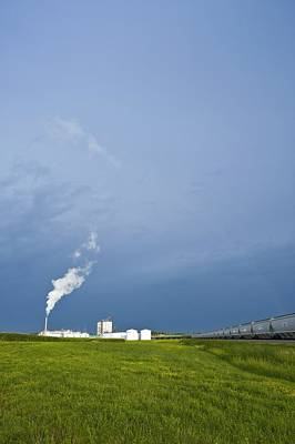 Corn Ethanol Processing Plant Poster by David Nunuk
