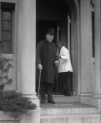 Ex-president Woodrow Wilson 1856-1924 Poster by Everett