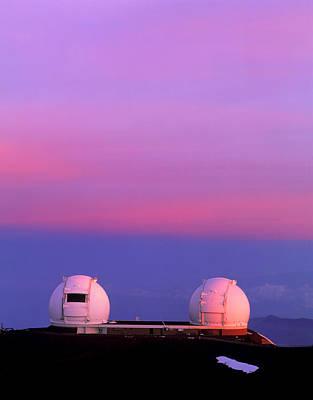 Keck I And II Observatories On Mauna Kea, Hawaii Poster by David Nunuk