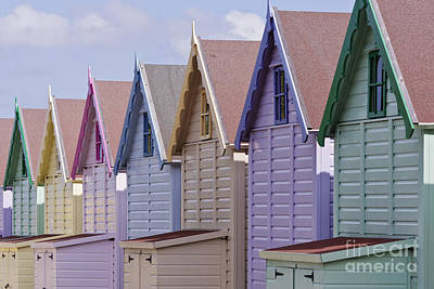 Row Of Colorful Beach Homes Poster by Jeremy Woodhouse