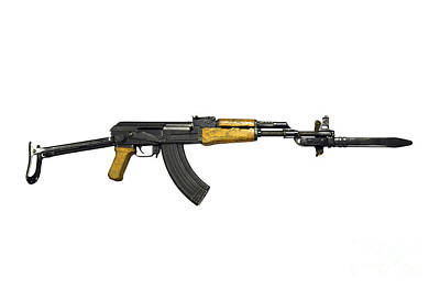 Russian Ak-47 Assault Rifle Poster by Andrew Chittock