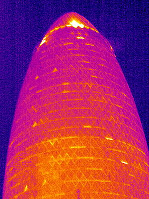 30 St Mary Axe, London, Uk, Thermogram Poster by Tony Mcconnell