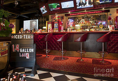 Bar At An American Style Diner Poster by Jaak Nilson