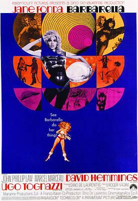 Barbarella, Jane Fonda, 1968 Poster by Everett
