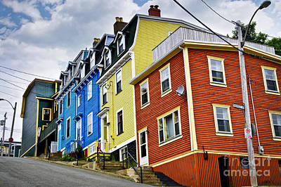 Colorful Houses In St. John's Newfoundland Poster by Elena Elisseeva