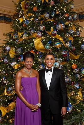 President And Michelle Obama Pose Poster by Everett