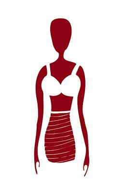 Fashion Sketch Poster by Frank Tschakert