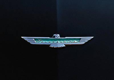 '56 T Bird Badge Poster by Douglas Pittman