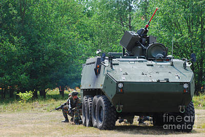 A Belgian Army Piranha IIic With The Fn Poster by Luc De Jaeger