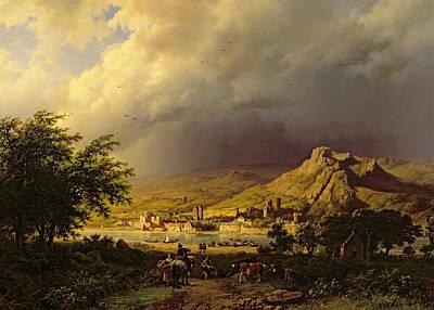 A Coming Storm Poster by Barend Cornelis Koekkoek