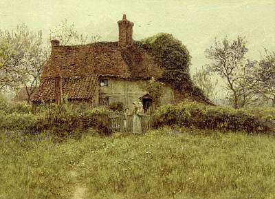 A Cottage At Pinner Middlesex Poster by Helen Allingham