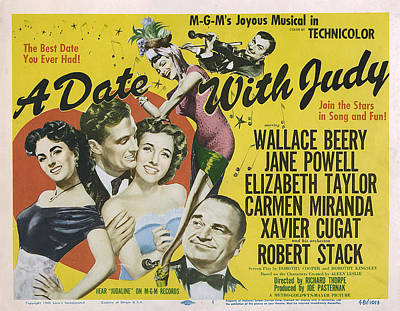 A Date With Judy, Elizabeth Taylor Poster by Everett