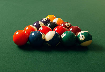 A Fresh Game Of Pool Poster by Design Pics