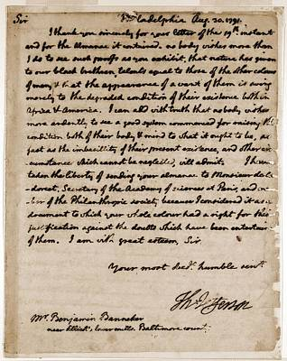 A Letter By Thomas Jefferson Poster by Everett