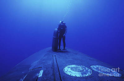 A Navy Seal Stands Next To The Sonar Poster by Michael Wood